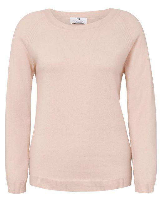 Peter Hahn Cashmere Pink Rundhals-pullover aus 100% premium-kaschmir