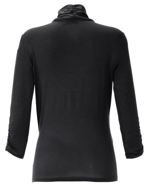 Peter Hahn Black V-shirt 3/4 arm