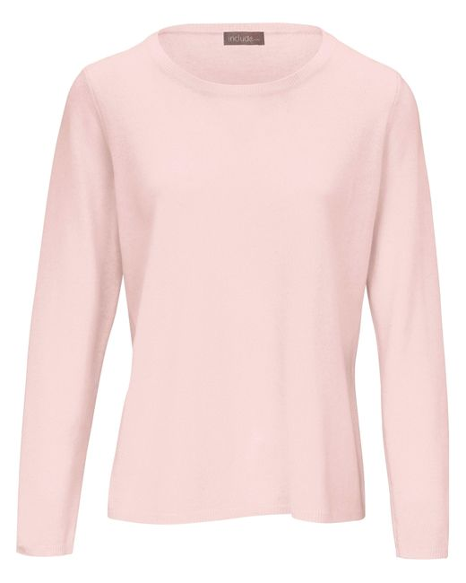 include Pink Rundhals-Pullover rosé
