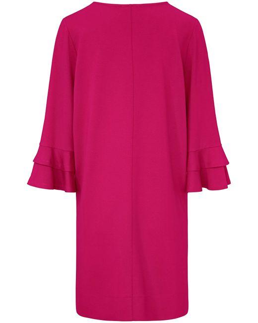 Riani Multicolor Jersey-Kleid doppeltem Volant am Armabschluss