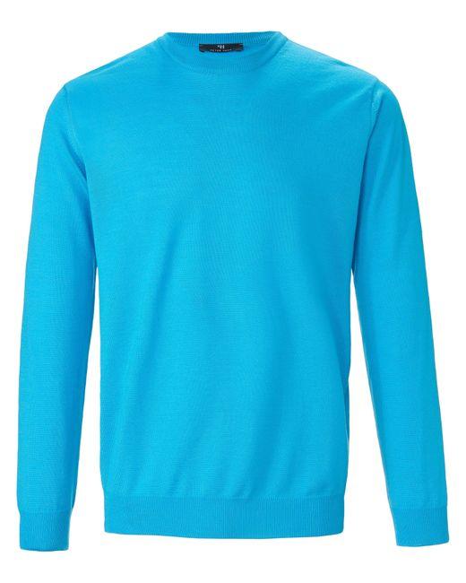 Peter Hahn Pullover aus 100% schurwolle-merino in Blue für Herren