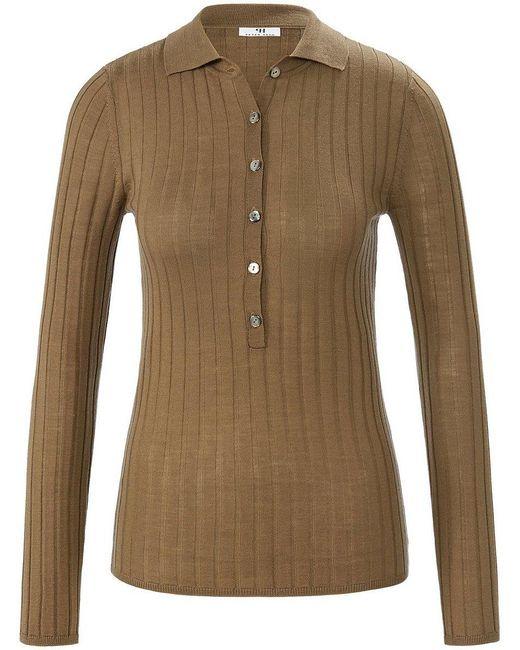 Peter Hahn Green Polo-pullover aus 100% schurwolle-merino