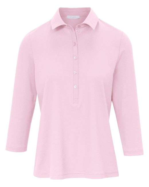 Le polo 100% coton manches 3/4 taille 42 efixelle en coloris Pink