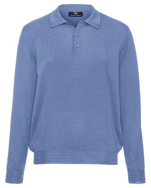 Peter Hahn Polo-pullover achim aus 100% schurwolle-merino in Blue für Herren