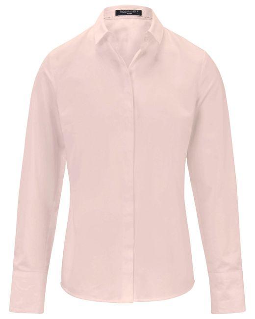 Fadenmeister Berlin Pink Bluse kleinem hemdkragen