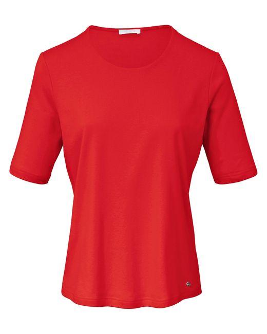 efixelle Red Rundhals-Shirt langem 1/2 Arm rot