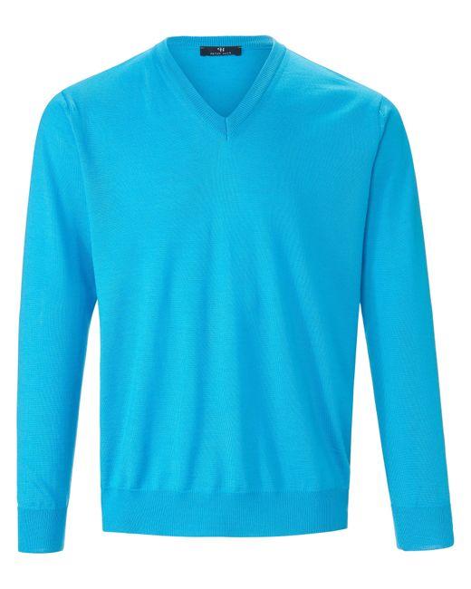 Peter Hahn V-pullover aus 100% schurwolle-merino extrafein in Blue für Herren