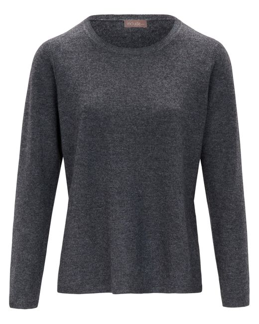 include Gray Rundhals-Pullover grau