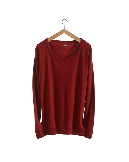 Petit Bateau | Brown Women's Loose Cotton Sweatshirt | Lyst