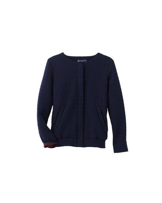 Petit Bateau   Black Women's Padded Tube Knit Jacket   Lyst