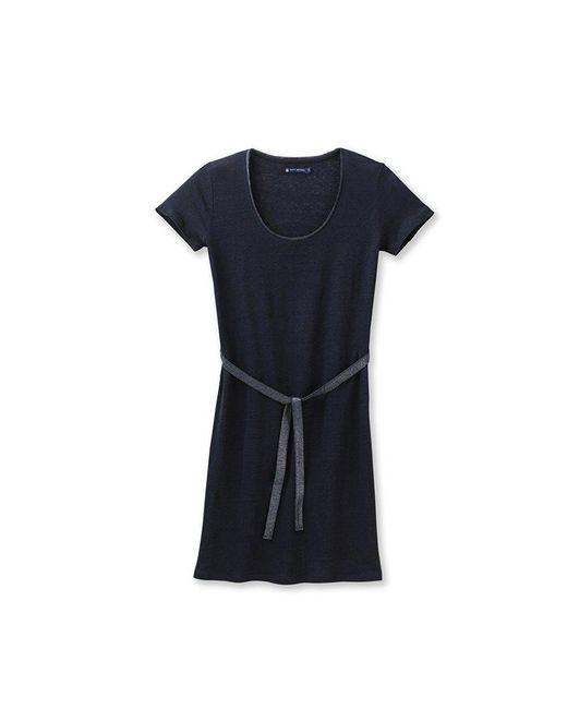 Petit Bateau   Black Women's Lacquered Linen Dress   Lyst