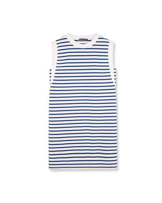 Petit Bateau | White Women's Striped Dress | Lyst
