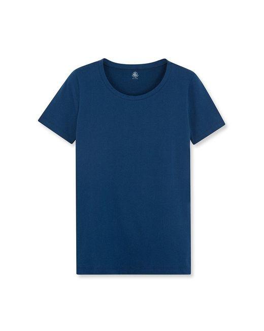 Petit Bateau | Blue Women's Round Neck Tee In Loose Cotton | Lyst