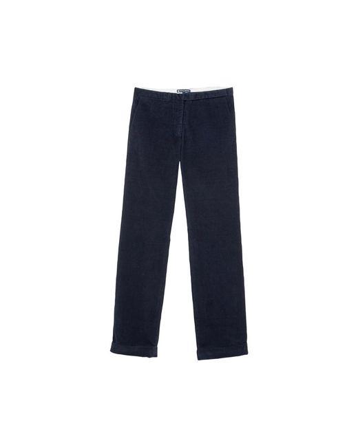 Petit Bateau   Black Women's Straight Cut Pants In Stretch Ribbed Velvet   Lyst