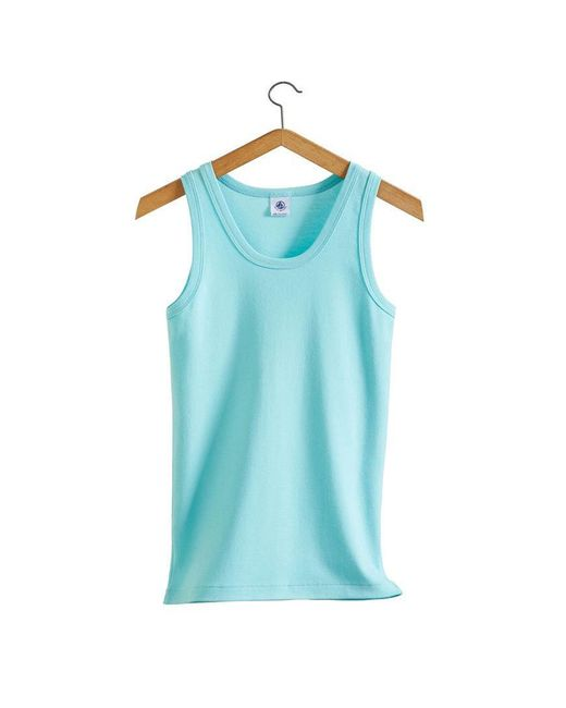 Petit Bateau | Blue The Essential Women's Tank Top In Vintage Cotton | Lyst