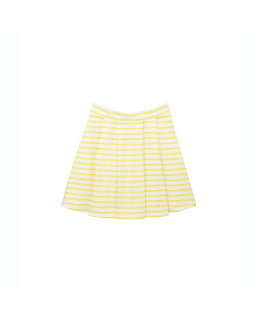 Petit Bateau | White Women's Sailor Striped Jersey Skirt | Lyst