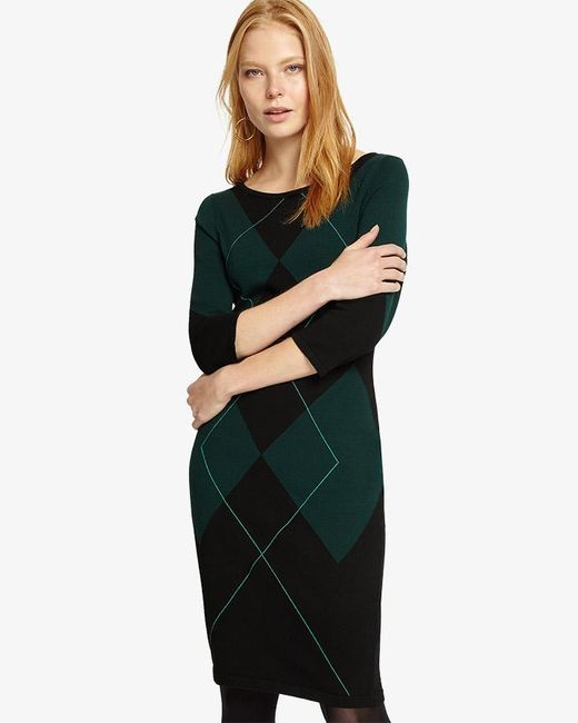 Phase Eight - Multicolor Adriene Argyle Knitted Dress - Lyst