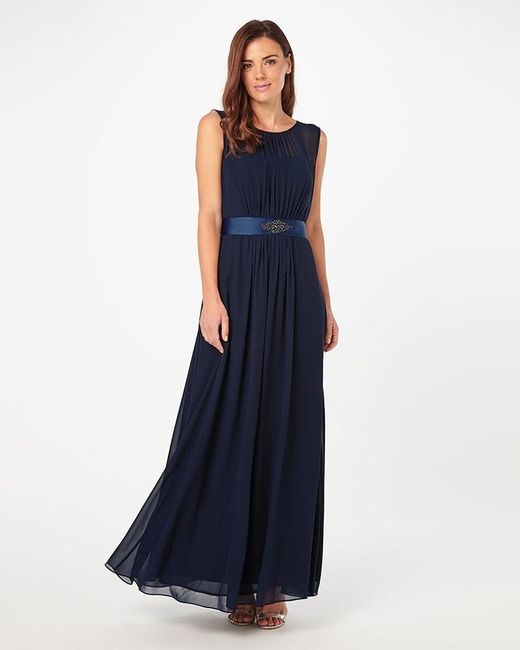 Phase Eight - Blue Rowena Belted Full Length Dress - Lyst
