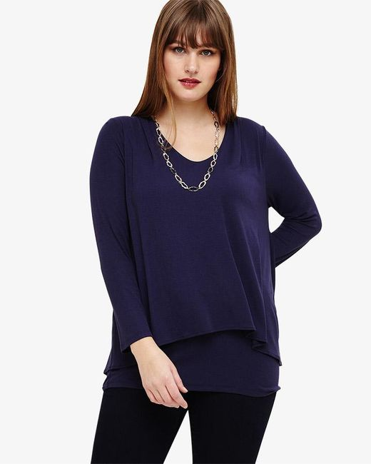 Phase Eight - Blue Joy Double Layer Top - Lyst
