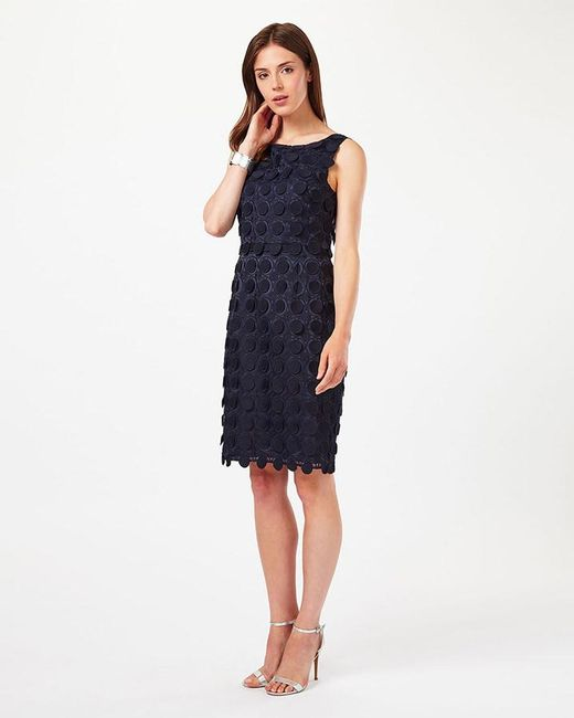 Phase Eight   Blue Violetta Circles Lace Dress   Lyst