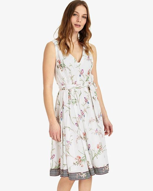 Phase Eight - Multicolor Hummingbird Print Dress - Lyst