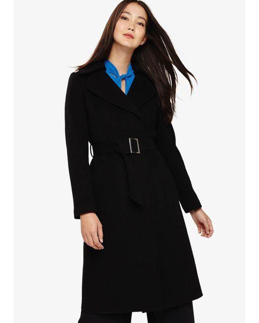 Phase Eight Black Eadie Belted Coat