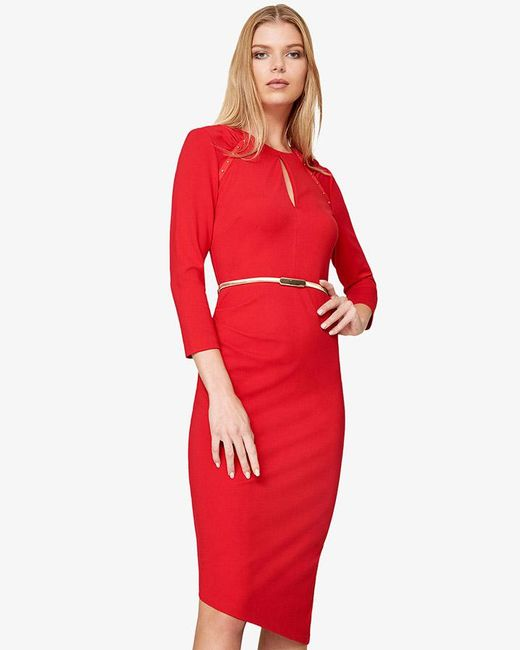 Phase Eight - Red Blair Studded Ponte Dress - Lyst