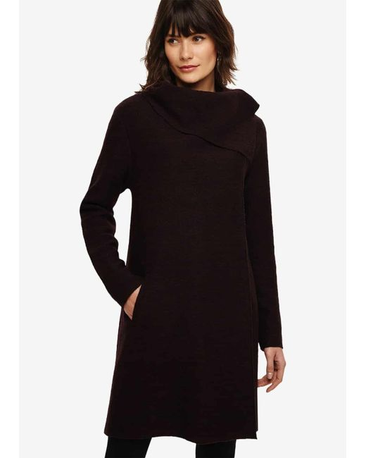 Phase Eight Black Bellona Level Hem Knit Coat