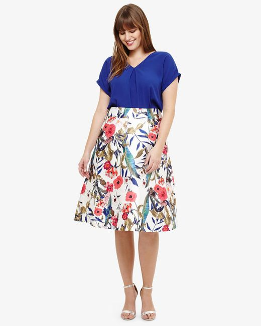 Phase Eight - Blue Samantha Floral Skirt - Lyst