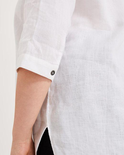 fbec9071 ... Phase Eight - White Haze Linen Longline Shirt - Lyst