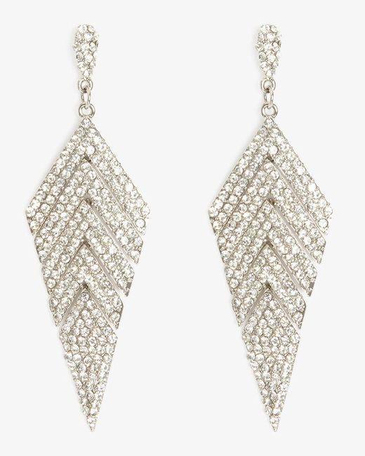 Phase Eight - Metallic Carmen Chevron Sparkle Drop Earrings - Lyst