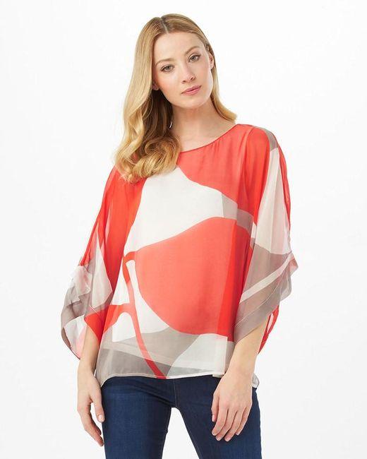 Phase Eight   Red Esmerelda Print Silk Blouse   Lyst