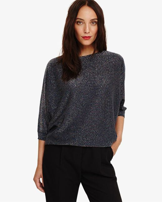 Phase Eight - Blue Becca Shimmer Knitted Jumper - Lyst