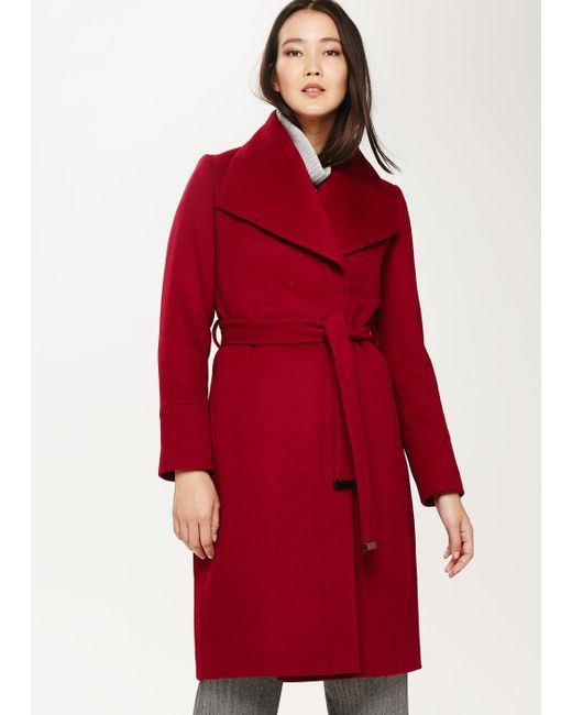 Phase Eight Red Nicci Wrap Coat