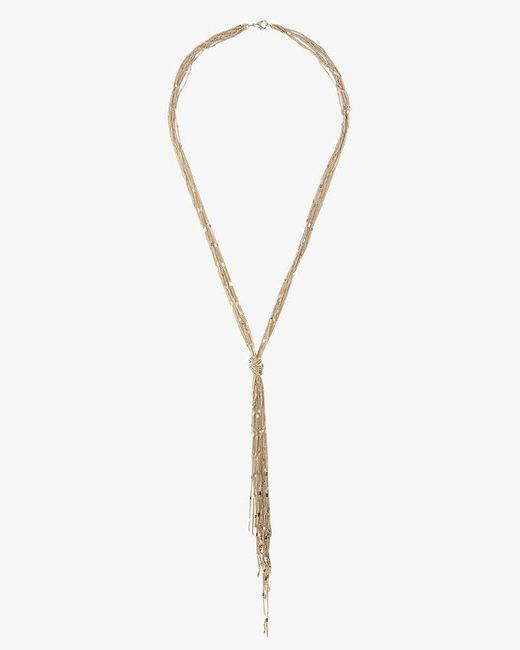 Phase Eight - Metallic Allie Knot Pendant Necklace - Lyst