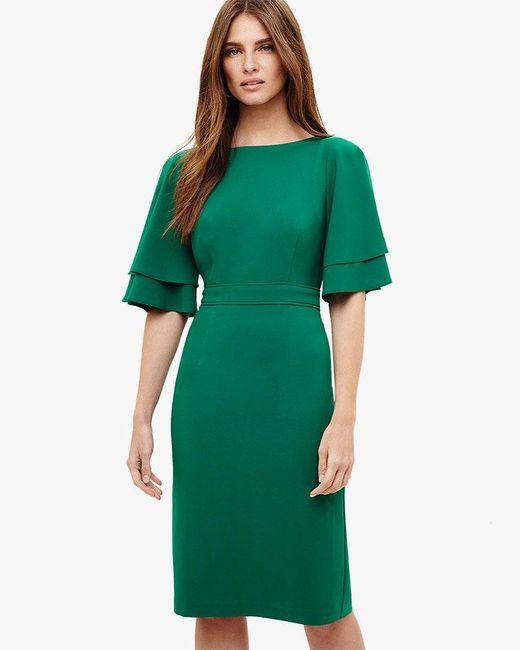 Phase Eight - Green Daley Drape Dress - Lyst