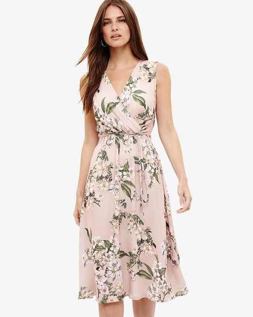 Phase Eight - Pink Tanisha Floral Dress - Lyst