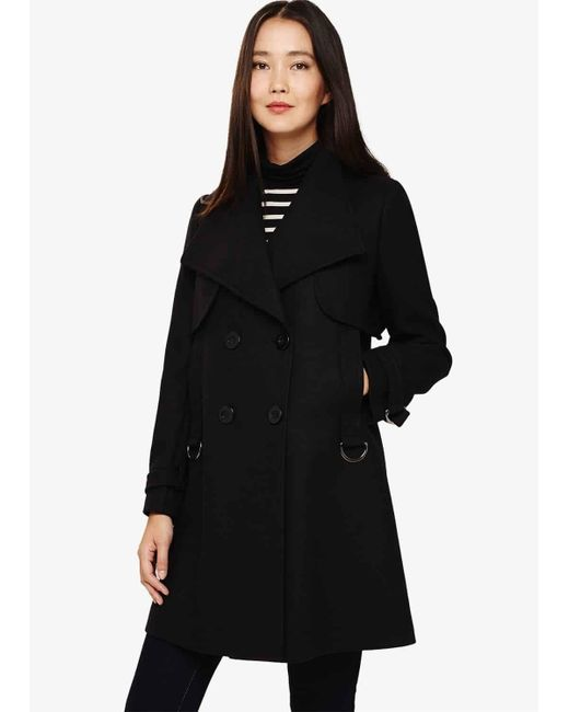 Phase Eight Black Sada Swing Coat