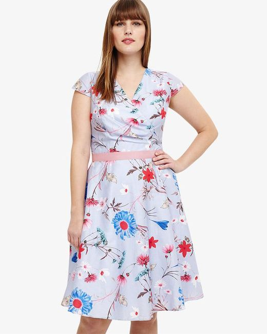 Phase Eight - Blue Millicent Floral Dress - Lyst