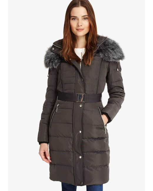 Phase Eight Multicolor Brisa Long Side Stitch Puffer