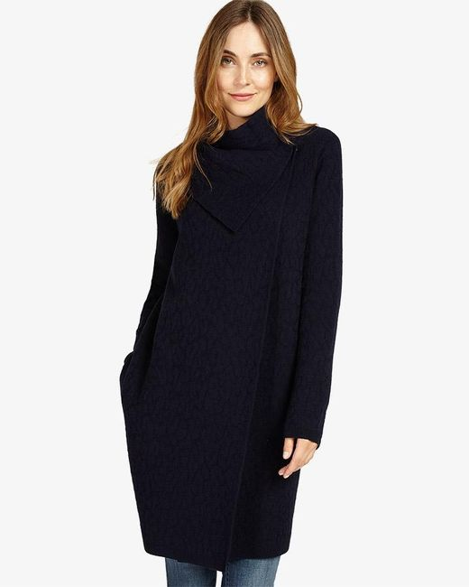 Phase Eight | Blue Belen Jacquard Knitted Coat | Lyst