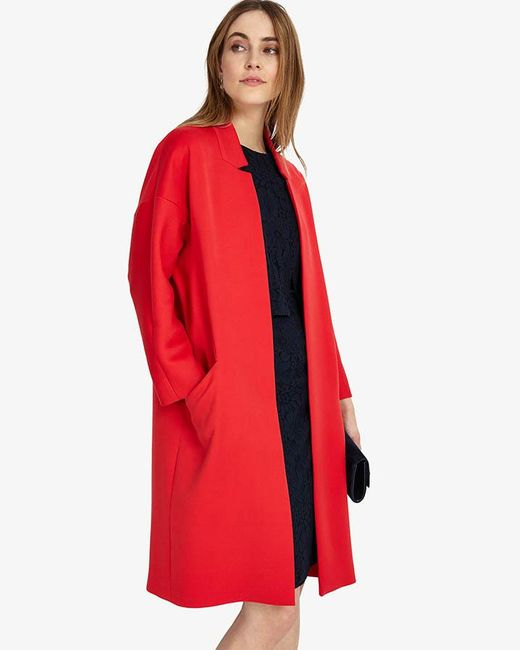 Phase Eight - Red Jenna Coat - Lyst