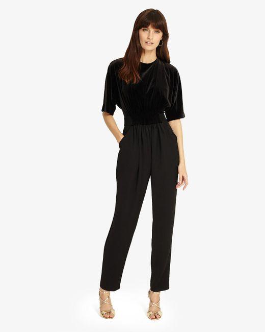 Phase Eight - Black Neha Velvet Jumpsuit - Lyst