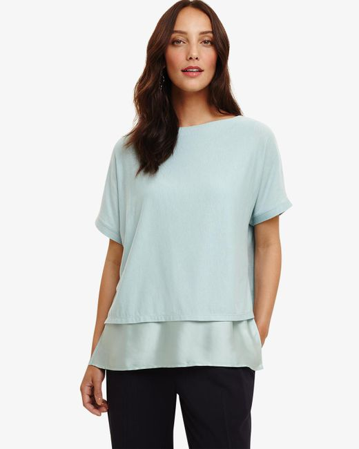 Phase Eight - Blue Gina Double Layer Top - Lyst