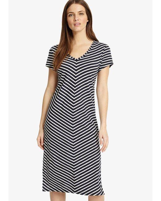 Phase Eight Blue Chantelle Chevron Beach Dress