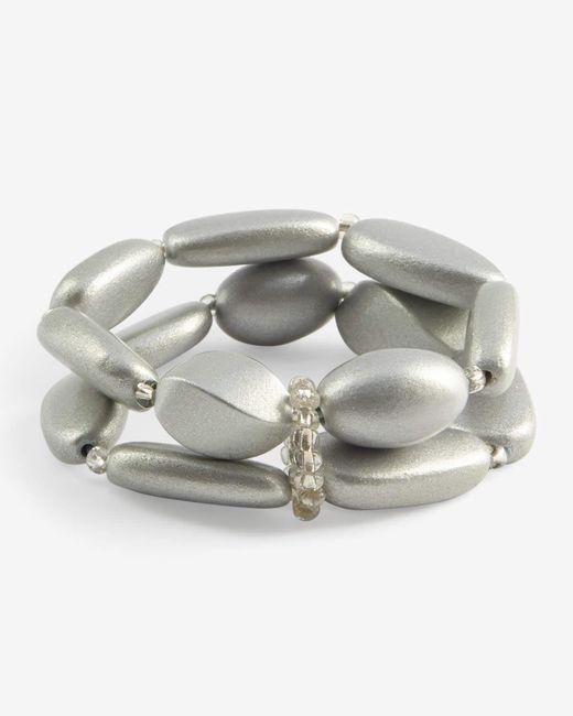 Phase Eight - Metallic Fay Wooden Bead Bracelet - Lyst