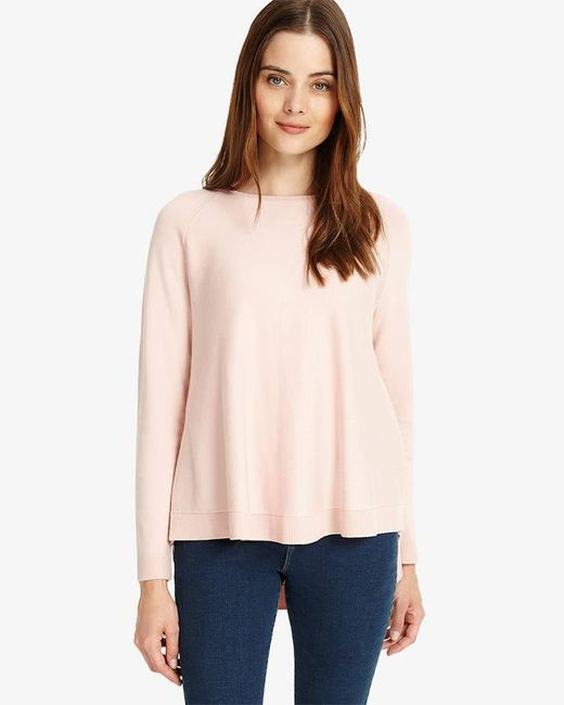 Phase Eight - Pink Terza Zip Back Swing Knitted Jumper - Lyst