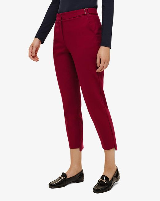 Phase Eight - Red Lucy-lou Buckle Trouser - Lyst