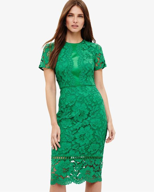 Phase Eight - Green (h)darena Lace Dress - Lyst