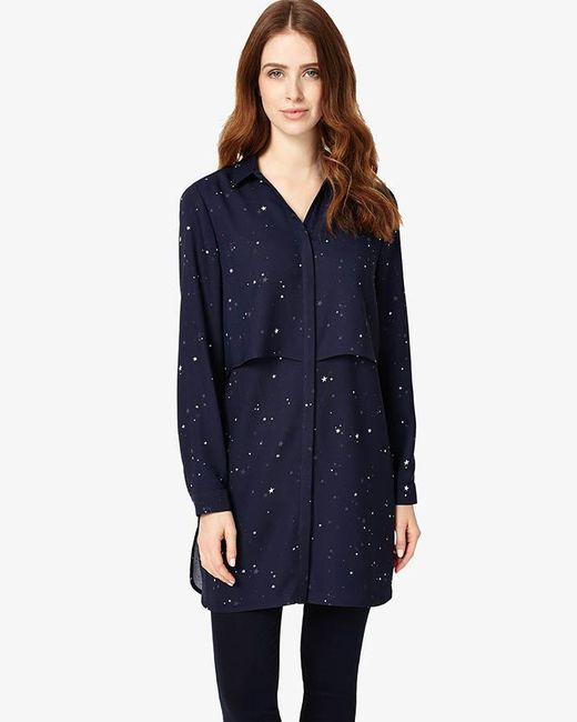 Phase Eight - Blue Hailey Star Print Tunic - Lyst